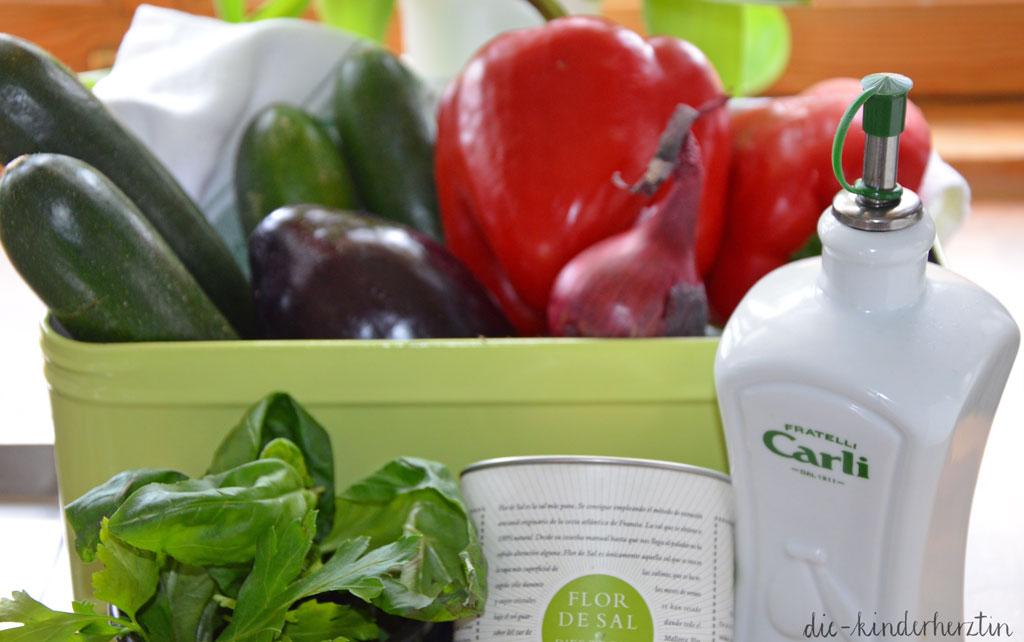 Ratatouille Rezepte Zutaten Gemüse und Gewürze