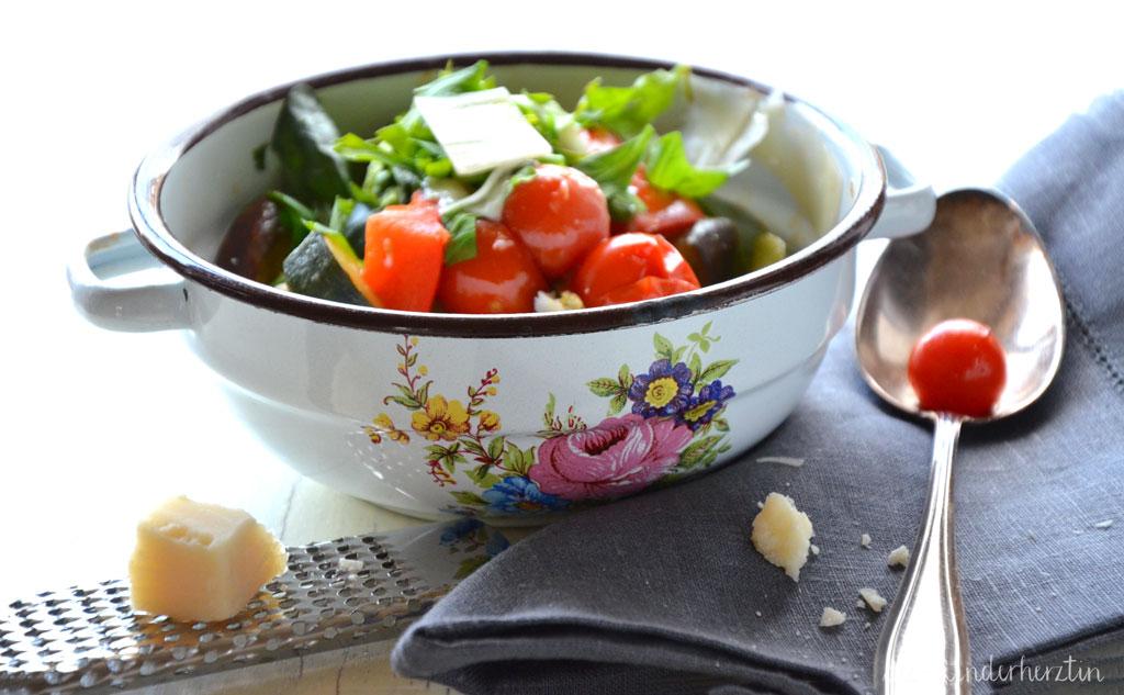 Ratatouille Rezepte fertig mit Parmesan