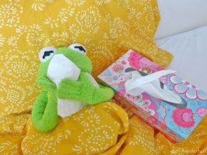 Husten bei Kindern hustender Frosch