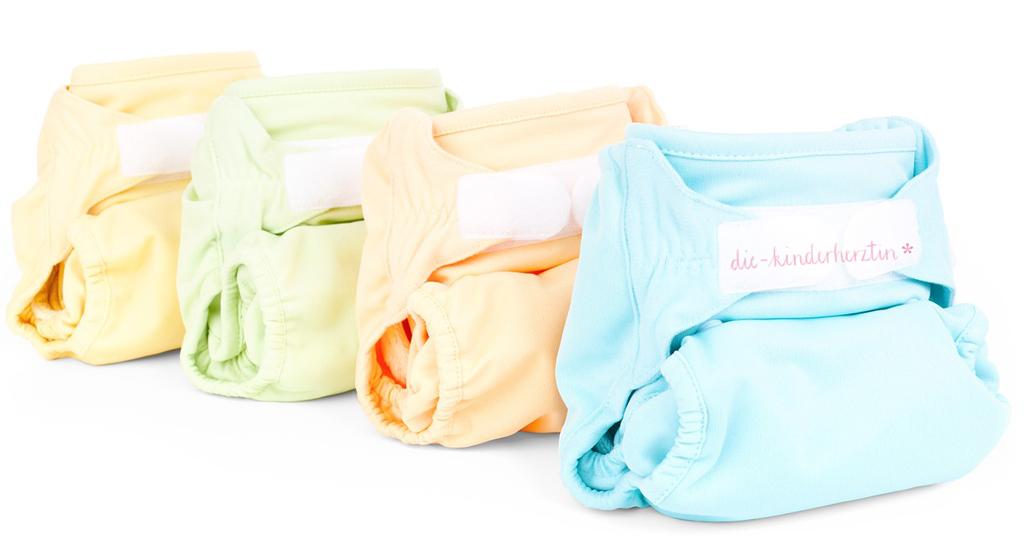 Windel-Torte die-kinderherztin Windelhosen in verschiedenen Farben