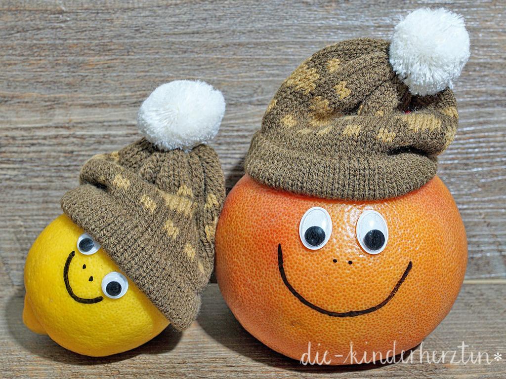 Kleine Helfer gegen Erkältungen: Zitrusfrüchte mit Gesicht
