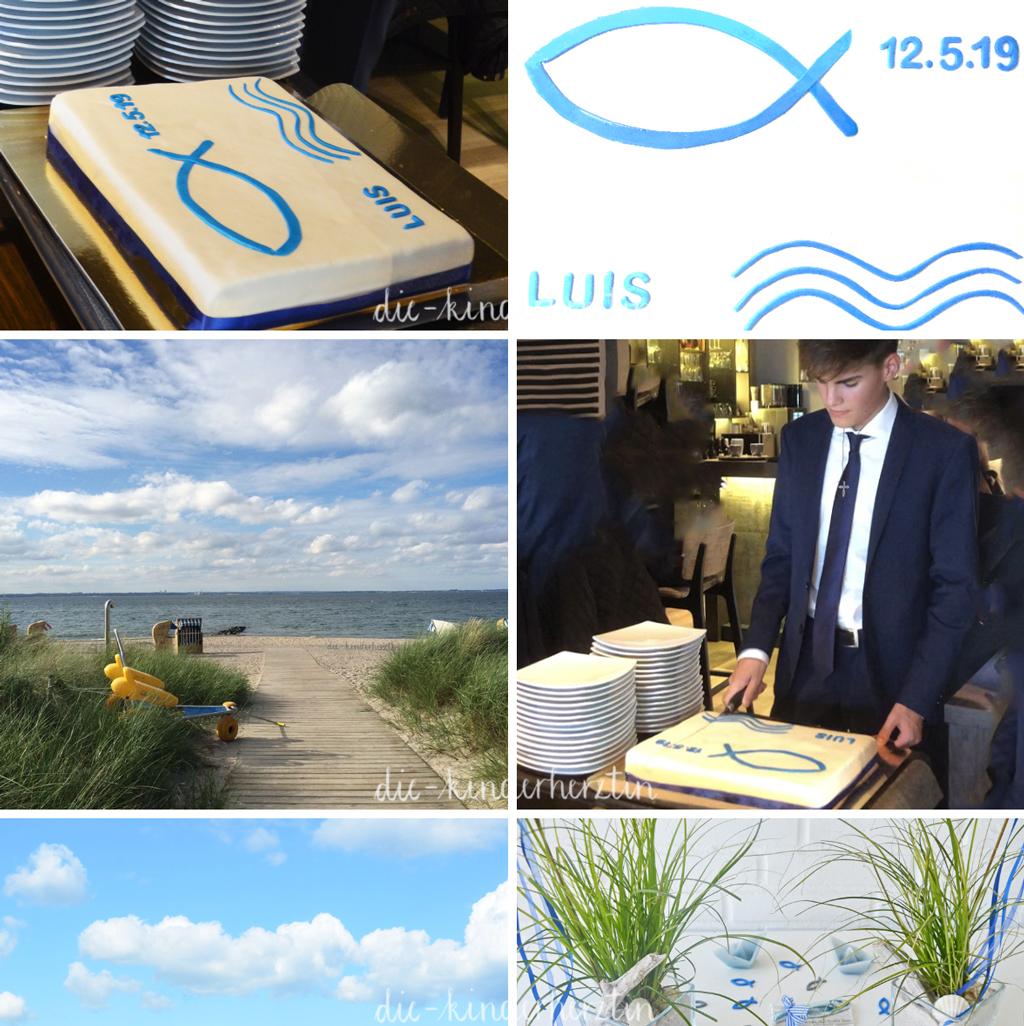 Konfirmation Torte Fischsymbol